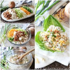 This is not your average chicken salad recipe! Creamy chicken salad is mixed with sour cream, bacon, chives and cheddar for all of the decadent flavors of a loaded baked potato. It is perfect for…