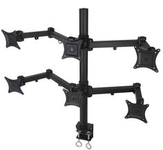 """Hex LCD Monitor Desk Mount Stand Heavy Duty Adjustable 6 Screens up to 24"""" #VIVO"""