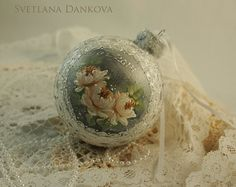 inserzione di Etsy su https://www.etsy.com/it/listing/194874110/christmas-ornament-hand-painted