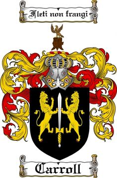 $7.99 Carroll Coat of Arms Carroll Family Crest Instant Download