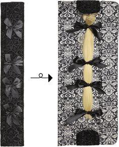 black velvet hair extension case