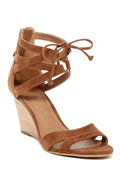 57c1f520b854 14th  amp  Union - Carlie Strappy Wedge Heel at Nordstrom Rack. Free  Shipping on