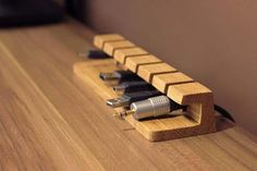 Wood Profits - Wooden Cable and Charger Organizer Cable par BatelierHandicraft Discover How You Can Start A Woodworking Business From Home Easily in 7 Days With NO Capital Needed! Wooden Organizer, Cable Organizer, Laptop Organizer, Teds Woodworking, Woodworking Projects, Woodworking Classes, Wooden Desk, Wood Table, Handmade Wooden