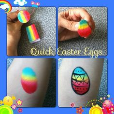 That's so helpful - easter egg (squeeze round sponge) - one stroke face paint.