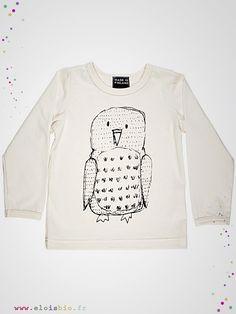 Tshirt mixte à l'imprimé de Hibou