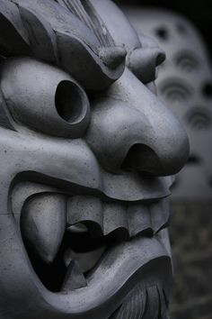 Japanese mask sculpture