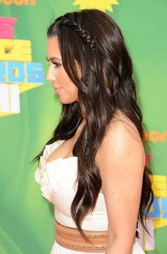 Kim-Kardashian-Braided-Long-Curly-Hairstyle