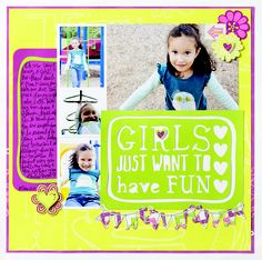 scrapbook ideas memories | ... Just Want to Have Fun Be Young Additions Scrapbook Layout Project Idea