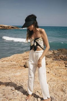 Crop Tops for Summer - Silk Scarf as Top // Notjessfashion.com