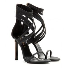 Tamara Mellon Boom Boom Leather Sandals ($255) ❤ liked on Polyvore