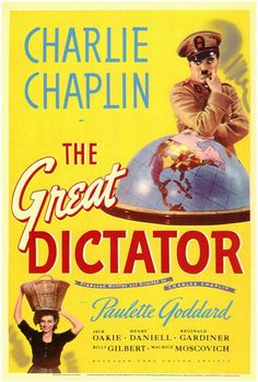 The Great Dictator (1940) Come heil or high water, Charles Chaplin is in the fight! And the result is a celebrated classic honored in 2000 as one of the American Film Institute's Top- 100 American Com