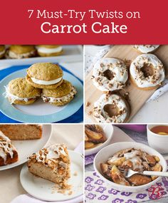 Try a new twist on classic carrot cake, from baked doughnuts to cobbler to pancakes.