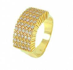 Anel Semi-jóia Cravejado Com Zicônias - Rivera Jóias