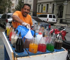 Nice friendly shaved-ice vendor in Washington Heights, NYC | for Fig & Quince blog post