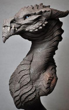 Goliath Dragon Bust Creature Sculpt 2 Beast by AntWatkins.deviantart.com on @deviantART