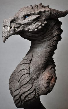 Goliath Dragon Bust Creature Sculpt 2 Beast by AntWatkins.deviantart.com on @deviantART