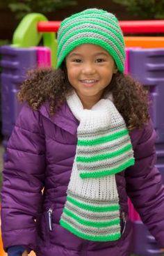 Strickmuster für Schal und Mütze im Set für Kinder