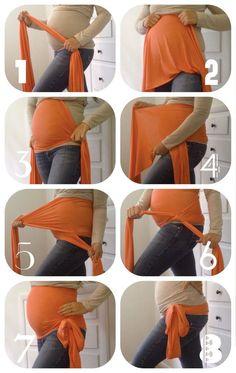 Single Pregnancy Maternity WOMB WRAP Belly Support by AbbyJaneKids