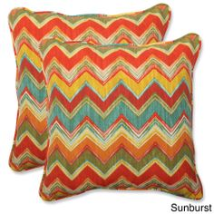 Pillow Perfect Outdoor Tamarama 18.5-inch Throw Pillow (Set of 2) | Overstock.com Shopping - Big Discounts on Pillow Perfect Outdoor Cushion...