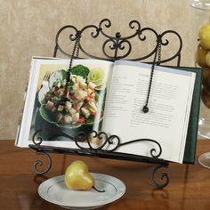 cristiano wrought iron kitchen cookbook stand - Recipe Book Holder