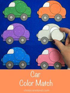 Car color match for color identification.