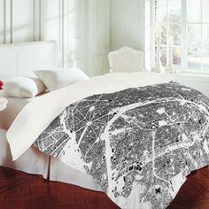 CityFabric Inc Paris White Duvet Cover