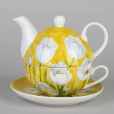 Blue Daisy Teapot for One - The Teapot Shoppe, Inc.
