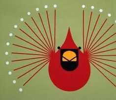 charley harper Could make a great mixed media project with yarn to string for the wings