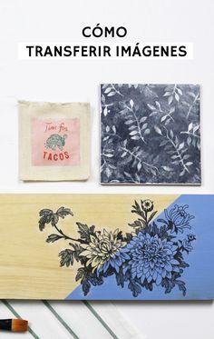 Cómo transferir imágenes con gel foto transfer sobre cualquier tipo de superficie: metal, cristal, madera, cerámica.... ¡Incluye TRUCO!
