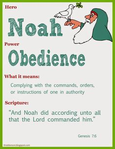Scripture Heroes: Noah. Good FHE or Primary idea
