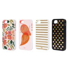 Shop by Monika - Hello Iphone case. Love the gold stripe!