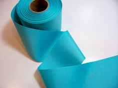 Blue Ribbon, Turquoise Blue Grosgrain Ribbon 3 inches wide x 3 yards by GriffithGardens on Etsy