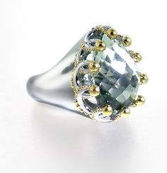 Garland Ring by Ellen Himic: Silver and Stone Ring available at www.artfulhome.com