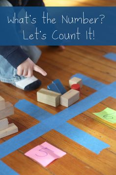 Work on number recognition by counting with blocks to get there.