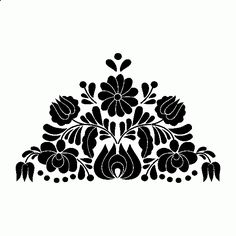 Wall decal /colorize.php?imgid=e2R9MTY3Mi0yNjA1e3B9e2V9=000000 Mexican Embroidery, Hungarian Embroidery, Folk Embroidery, Embroidery Patterns, Horse Shoe Nails, Mexican Pattern, Mexican Flowers, Flower Embroidery Designs, Flower Template
