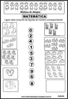 ligar a quantidade Fall Preschool Activities, Printable Preschool Worksheets, Kindergarten Math Worksheets, Preschool Math, Worksheets For Kids, Math For Kids, Fun Math, Teaching Kids, Kids Learning