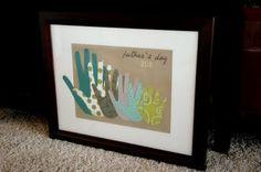 Family Handprint Gift for Dad