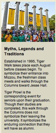 My class was the first to go through the Tiger Walk.  It seemed kind of silly at the time but has become symbolic.
