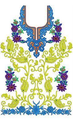 Latest Pakistani Style Kameez Embroidery Design
