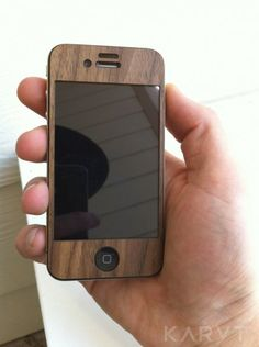 WOODEN IPHONE CASE.