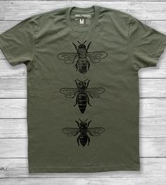 Honeybee T-Shirt | This comfy tee features three bee specimens, laid out in a nea... | T-Shirts