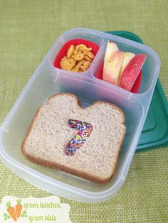 Birthday Lunch Box idea from Green Lunches, Green Kids