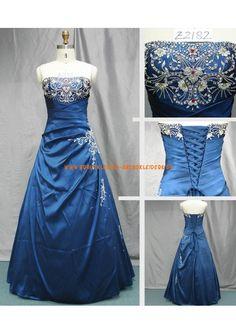 A-linie Elegante Brautkleider 2013 aus Satin mit Applikation