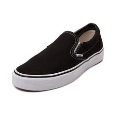 Shop for Vans Slip-On Skate Shoe in Black White at Journeys Shoes. Shop today for the hottest brands in mens shoes and womens shoes at Journeys.com.This classic Slip-On skate shoe from Vans sports a canvas upper, padded collar, stretchy midfoot goring for easy on-and-off, and vulcanized rubber sole with waffle tread. Available only online at Journeys.com and SHIbyJourneys.com!