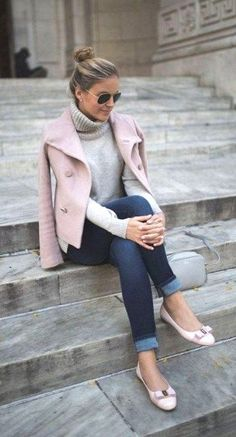 Best 46 Casual Chic Winter Outfits For Women casual chic outfits - Casual Outfit Chic Winter Outfits, Winter Outfits For Work, Spring Outfits, Casual Outfits, Outfit Winter, Winter Wear, Casual Wear, Mode Outfits, Fashion Outfits