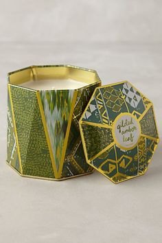 Gilded Amber Leaf Scent - Lexi Candle Tin - anthropologie.com