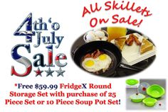 The Xtrema Cookware 4th of July Sale is on. Shop now for great deals on 100% Ceramic Cookware!