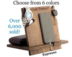 iPhone Docking Station Gifts For Him Mens by PalmettoWoodShopLLC