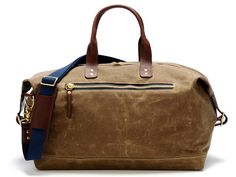 Ernest Alexander Bedford British Tan Wax Overnight Bag