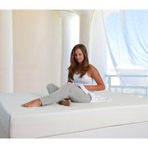 """Spa Sensations 6"""" memory foam mattress, cut to size with an electric knife (like you use at Thanksgiving)"""